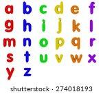 fridge magnet lowercase... | Shutterstock . vector #274018193