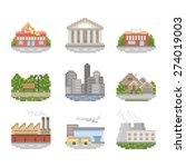 City Pixel Art Icon Set