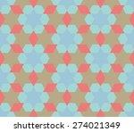 colorful diamond hexagon star... | Shutterstock .eps vector #274021349