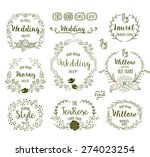 hand drawn floral frames in... | Shutterstock .eps vector #274023254