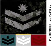 military rank army fashion... | Shutterstock .eps vector #274024610