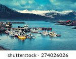 Iceland Harbor With Fishing...