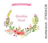 vector flowers set. colorful... | Shutterstock .eps vector #274026128