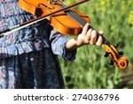 playing the violin in the field ... | Shutterstock . vector #274036796