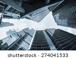 futuristic modern skyscrapers...   Shutterstock . vector #274041533