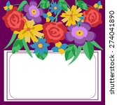 floral vector card for wedding  ... | Shutterstock .eps vector #274041890