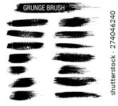 set of hand drawn grunge brush... | Shutterstock .eps vector #274046240