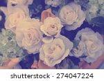 Group Of White Rose Flower...