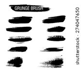 set of hand drawn grunge brush...   Shutterstock .eps vector #274047650
