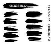 set of hand drawn grunge brush... | Shutterstock .eps vector #274047653