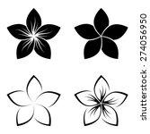 Four Frangipani Silhouettes Fo...