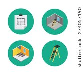 four isometric icons for the...