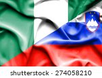 waving flag of slovenia and... | Shutterstock . vector #274058210