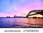 panorama of sydney harbour at... | Shutterstock . vector #274058450