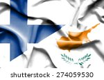 waving flag of cyprus and... | Shutterstock . vector #274059530
