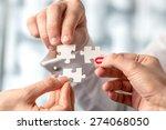 teamwork concept using white... | Shutterstock . vector #274068050