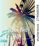 fun fair and palm tree with... | Shutterstock .eps vector #274068398