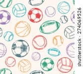 Sports Balls  Grunge Backgroun...
