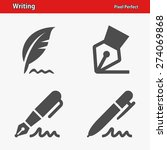 writing icons. professional ... | Shutterstock .eps vector #274069868