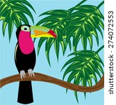 toucan on branch | Shutterstock .eps vector #274072553