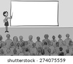 presentation   a girl with a... | Shutterstock .eps vector #274075559