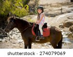 sweet beautiful young girl 7 or ... | Shutterstock . vector #274079069
