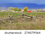 Old Wooden Fence In A Rural...