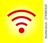 wifi symbol. vector wireless... | Shutterstock .eps vector #274085324