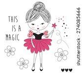 magic fairy girl vector... | Shutterstock .eps vector #274085666