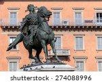 bronze equestrian statue of the ... | Shutterstock . vector #274088996