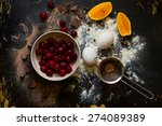 muffin ingredients  the frozen... | Shutterstock . vector #274089389