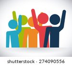 volunteer design over white... | Shutterstock .eps vector #274090556