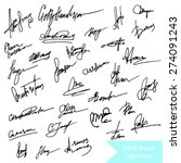 hand drawn uniquw  signature... | Shutterstock .eps vector #274091243