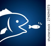 fish design over blue... | Shutterstock .eps vector #274094573