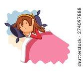 girl sleeping  vector... | Shutterstock .eps vector #274097888