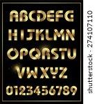 golden alphabet    Shutterstock .eps vector #274107110