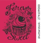forever sweet girls t shirt... | Shutterstock .eps vector #274109000