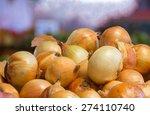 Fresh Onion In A Market