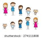 cartoon design of happy family... | Shutterstock .eps vector #274111808