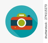camera flat icon with long... | Shutterstock . vector #274115273