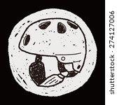 skate helmet doodle | Shutterstock .eps vector #274127006