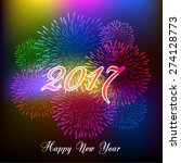 happy new year fireworks 2017...   Shutterstock .eps vector #274128773