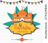 holy month of muslim community  ... | Shutterstock .eps vector #274129844