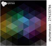 vector geometric shapes.... | Shutterstock .eps vector #274133786
