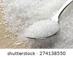 close up of granulated sugar in ... | Shutterstock . vector #274138550