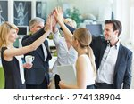 happy business team making high ...   Shutterstock . vector #274138904