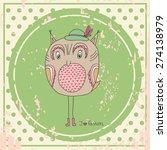 vector hand drawn fashion owl   Shutterstock .eps vector #274138979
