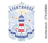 hand drawn vintage label with a ... | Shutterstock .eps vector #274140884