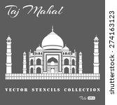 Stencil Of The Taj Mahal On A...