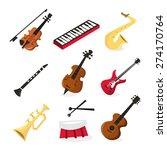a vector illustration of nine... | Shutterstock .eps vector #274170764